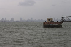 Orizzonte della megalopoli Mumbai immagine stock