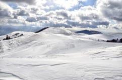 Orizzonte della neve Immagine Stock