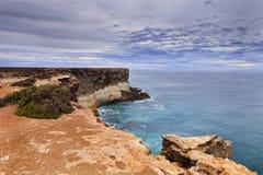 Orizzonte della scogliera di Nullar del mare del SA Fotografia Stock