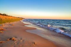 Orizzonte della spiaggia Fotografie Stock