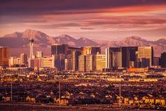 Orizzonte della striscia di Las Vegas Immagine Stock