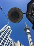 Orizzonte della torre del cielo di Auckland Fotografia Stock Libera da Diritti