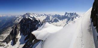 Orizzonte delle alpi Fotografia Stock