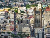 Orizzonte delle Mauritius del Port-Louis Fotografia Stock Libera da Diritti