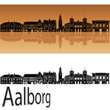 Orizzonte di Aalborg Fotografia Stock