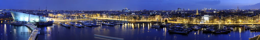 Orizzonte di Amsterdam fotografia stock libera da diritti