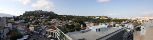 Orizzonte di Atene Fotografia Stock