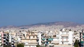 Orizzonte di Atene, alloggio ad alta densità Immagini Stock Libere da Diritti
