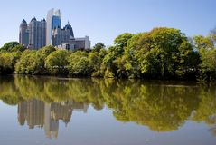 Orizzonte di Atlanta di Midtown fotografia stock libera da diritti