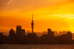 Orizzonte di Auckland Nuova Zelanda immagine stock