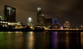 Orizzonte di Austin (notte) immagini stock