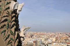 Orizzonte di Barcellona Fotografie Stock Libere da Diritti