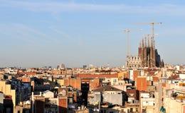 Orizzonte di Barcellona Immagine Stock Libera da Diritti