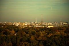 Orizzonte di Berlino alla luce di sera Fotografia Stock