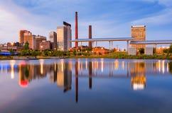 Orizzonte di Birmingham Alabama Fotografia Stock