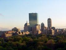 Orizzonte di Boston nel pomeriggio Fotografia Stock Libera da Diritti