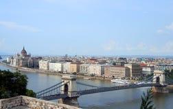 Orizzonte di Budapest Immagini Stock Libere da Diritti