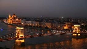 Orizzonte di Budapest stock footage
