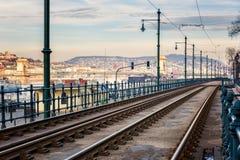 Orizzonte di Budapest, bello paesaggio urbano del distretto storico, Ungheria, Europa fotografie stock libere da diritti