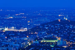 Orizzonte di Budapest, Ungheria Fotografia Stock