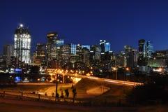 Orizzonte di Calgary Immagini Stock Libere da Diritti