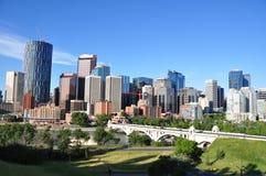 Orizzonte di Calgary Fotografie Stock