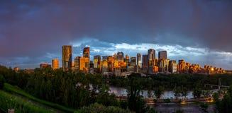 Orizzonte di Calgary Immagine Stock Libera da Diritti