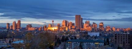Orizzonte di Calgary Immagini Stock