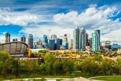 Orizzonte di Calgary Fotografia Stock