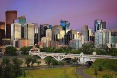 Orizzonte di Calgary, Alberta, Canada Fotografie Stock Libere da Diritti