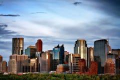 Orizzonte di Calgary, Alberta, Canada Immagini Stock Libere da Diritti