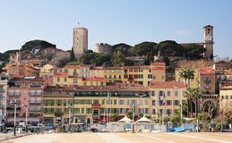 Orizzonte di Cannes fotografie stock