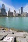 Orizzonte di Chicago Fotografia Stock