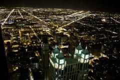 Orizzonte di Chicago da sopra Fotografia Stock Libera da Diritti