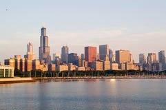 Orizzonte di Chicago del centro immagini stock libere da diritti