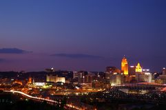 Orizzonte di Cincinnati Immagini Stock Libere da Diritti
