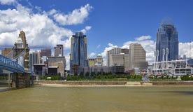 Orizzonte di Cincinnati immagine stock