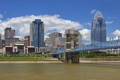 Orizzonte di Cincinnati, Ohio Fotografie Stock