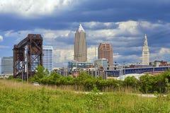 Orizzonte di Cleveland Fotografie Stock Libere da Diritti