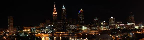 Orizzonte di Cleveland Ohio Immagine Stock Libera da Diritti