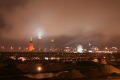 Orizzonte di Cleveland Ohio Fotografie Stock Libere da Diritti