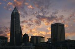 Orizzonte di Cleveland, Ohio Fotografie Stock Libere da Diritti