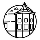 Orizzonte di Cleveland, siluetta monocromatica Illustrazione di vettore illustrazione vettoriale