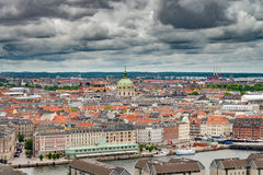 Orizzonte di Copenhaghen Immagini Stock Libere da Diritti