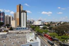 Orizzonte di Curitiba, Brasile Fotografia Stock