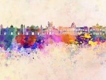 Orizzonte di Dacca in acquerello Fotografia Stock Libera da Diritti