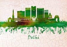 Orizzonte di Delhi India royalty illustrazione gratis