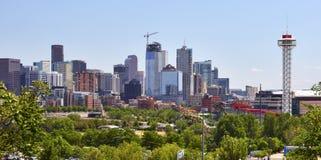 Orizzonte di Denver, Colorado fotografie stock libere da diritti