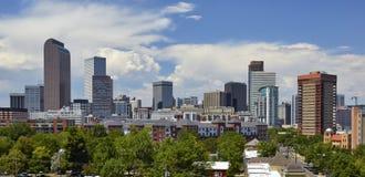 Orizzonte di Denver, Colorado immagini stock libere da diritti