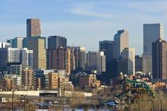 Orizzonte di Denver Colorado S.U.A. fotografia stock libera da diritti